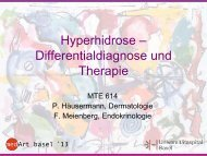 Hyperhidrose – Differentialdiagnose und Therapie
