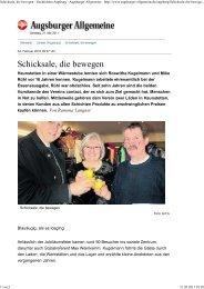 Schicksale, die bewegen - N... - contact in Augsburg eV