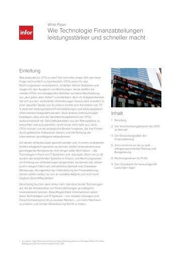 Wie Technologie Finanzabteilungen ... - Controller Institut