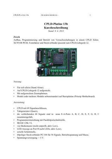 Die CPLD-Platine 13b. - zu PCs und Mikrocontrollern