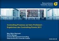 ÖCI-Controlling-Panel 2011 - Controller Institut