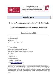 Fallstudien und methodische Hilfen für Studierende - Institut für ...