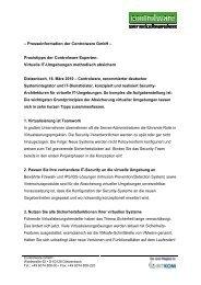 Praxistipps der Controlware Experten - Controlware GmbH