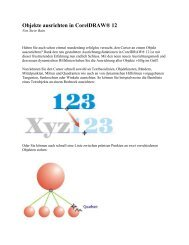Objekte ausrichten in CorelDRAW® (.PDF)