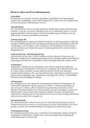DownloadKleines Lexikon zum Personalmanagement