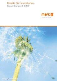 Energie für Generationen. Umweltbericht 2002 - CorporateRegister ...