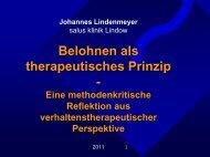 Belohnen als therapeutisches Prinzip - - CRA-Bielefeld.de