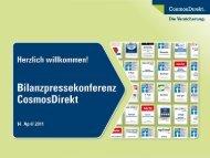 Präsentation Bilanzpressekonferenz 2011 (PDF) - CosmosDirekt