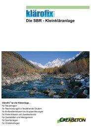 Die SBR 0 Kleinkläranlage - Creabeton Materiaux AG