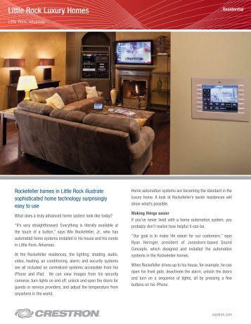 Little Rock Luxury Homes - Crestron