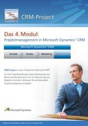 Projektmanagement in Microsoft Dynamics™ CRM - CRM Finder