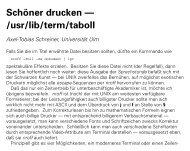 Schöner drucken -- /usr/lib/term/taboll