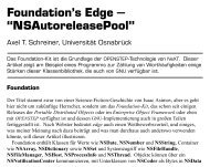 Foundation's Edge -- NSAutoreleasePool