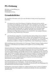 Richtlinien zur Durchführung von Projektgruppen - TU Dortmund ...