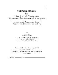 Solution Manual for The Art of Computer Systems Performance ...