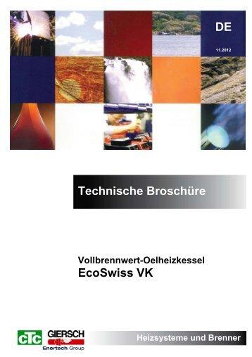 DE Technische Broschüre EcoSwiss VK - CTC Giersch AG