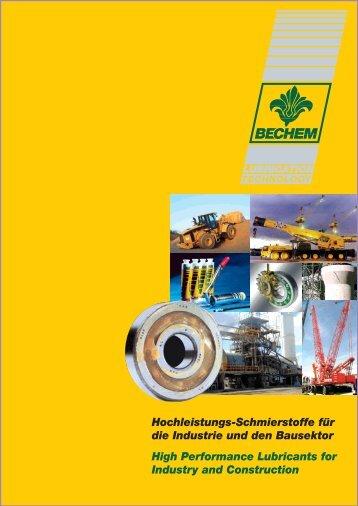 Hochleistungs-Schmierstoffe für die Industrie und den Bausektor ...