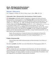 """Kurs """"Röntgenstrukturanalyse"""", Teil 1: Der kristalline Zustand"""