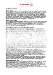 PDF-Version zum Drucken/Versenden - Cunard