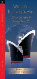 WELTREISE- TEILSTRECKEN 2012 - Cunard