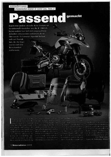"""Page 1 'DEH Il BMWII 1200 G5, """".2 gemacht Page 2 Komfort ..."""