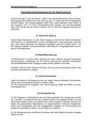 Informationsfreiheitssatzung für die Stadt Cuxhaven