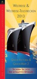 WELTREISE & WELTREISE-TEILSTRECKEN - Cunard