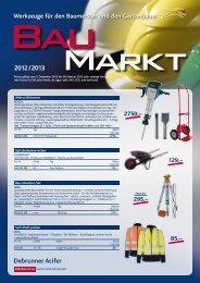 Baumarkt 2012 / 2013 deutsch (pdf/1.99MB) - Debrunner Acifer
