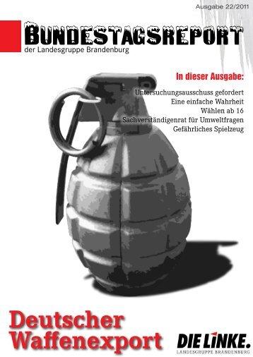 Deutscher Waffenexport - Dagmar Enkelmann