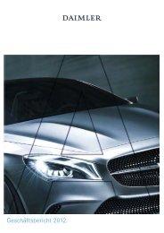 Daimler Geschäftsbericht 2012