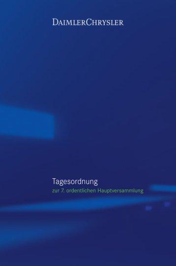 Tagesordnung - Daimler