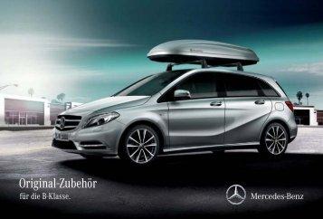 Original Zubehoer für die B Klasse - Daimler