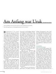 Am Anfang war Uruk - Deutsches Archäologisches Institut