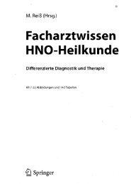 Facharztwissen HNO-Heilkunde Differenzierte Diagnostik und ...