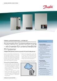 Automatische Systemerkennung – ein Inverter für ... - Danfoss