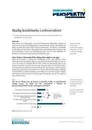 Stadig kredittørke i erhvervslivet - Dansk Erhverv