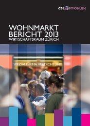 Wohnmarktbericht Wirtschaftsraum Zürich 2013 - ImmoCompass
