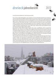 jahresbericht 2012 - Genossenschaft Dreieck
