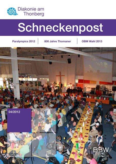 Schneckenpost 2012/4 - Diakonie am Thonberg