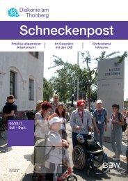 Schneckenpost 2011/3 - Diakonie am Thonberg