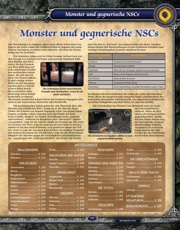 Monster und gegnerische NSCs - Data Becker