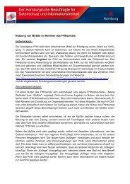 Der Hamburgische Beauftragte für Datenschutz und ...