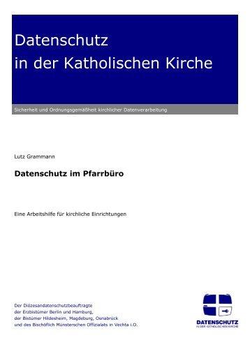 Datenschutz im Pfarrbüro - Datenschutz in der Katholischen Kirche