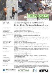 Ausschreibung zum Kidscup - Deutscher Alpenverein Sektion ...