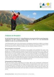 Golfplatz als Biosphäre (PDF 451 KB) - Davos