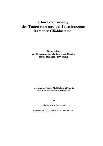 Charakterisierung der Tumorzone und der Invasionszone humaner ...