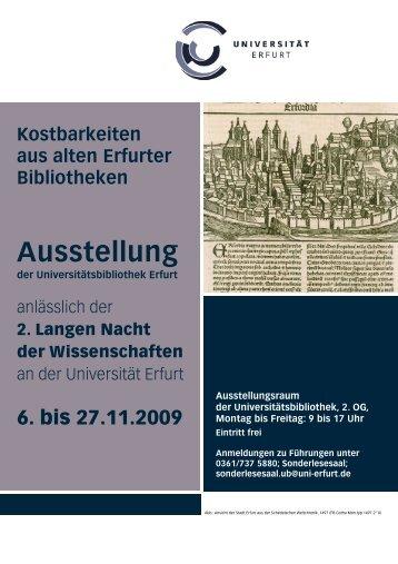 Kostbarkeiten aus alten Erfurter Bibliotheken - Digitale Bibliothek ...
