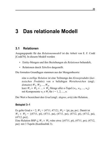 Kapitel 3 - Praktische Informatik / Datenbanken