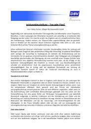 Leistungsbeurteilung – Top oder Flop? - DBV