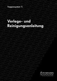 Verlegung und Pflege Treppensystem TS - Debolon Dessauer ...